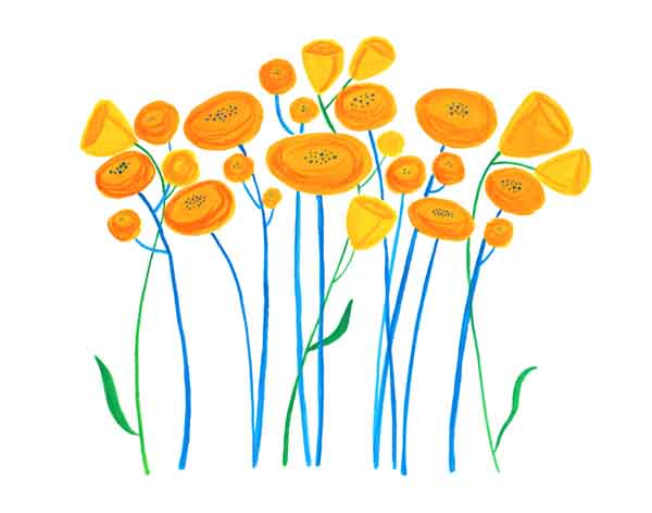 Frick yellow poppies